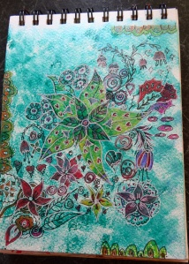 Acrylic and fine liners